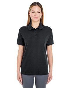 Black Ladies' Whisper Piqué Polo