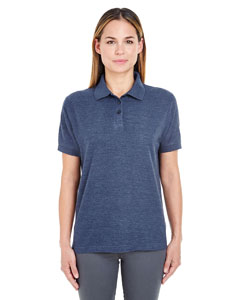 Navy Heather Ladies' Whisper Piqué Polo
