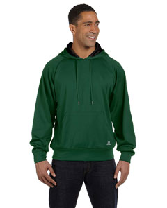 Dark Green/black Tech Fleece Pullover Hood
