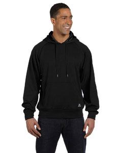 Black Tech Fleece Pullover Hood