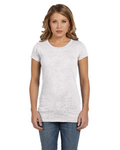 White Women's Burnout Short-Sleeve T-Shirt