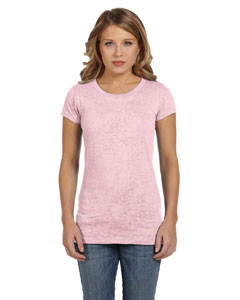 Soft Pink Women's Burnout Short-Sleeve T-Shirt