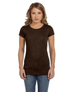 Chocolate Women's Burnout Short-Sleeve T-Shirt