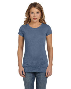 Steel Blue Women's Burnout Short-Sleeve T-Shirt