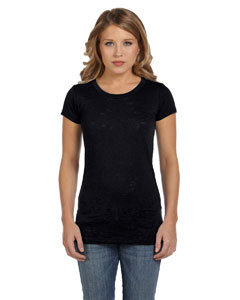 Black Women's Burnout Short-Sleeve T-Shirt