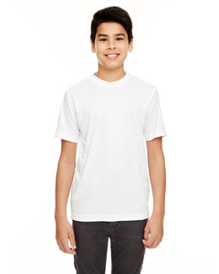 White Youth Cool & Dry Basic Performance Tee