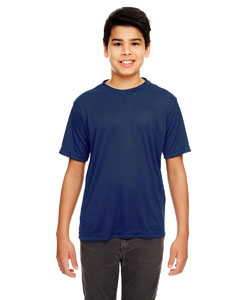 Navy Youth Cool & Dry Basic Performance Tee