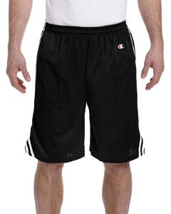 Black/white 3.7 oz. Lacrosse Mesh Shorts