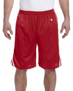 Scarlet/white 3.7 oz. Lacrosse Mesh Shorts