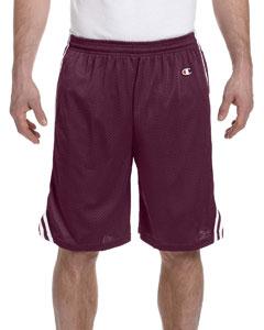 Maroon/white 3.7 oz. Lacrosse Mesh Shorts