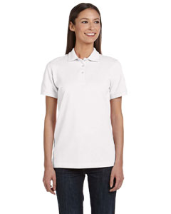 White Women's Ringspun Piqué Polo