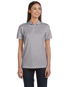 Heather Grey Women's Ringspun Piqué Polo