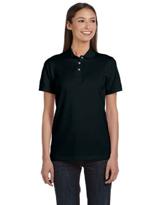 Black Women's Ringspun Piqué Polo