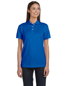 Royal Blue Women's Ringspun Piqué Polo