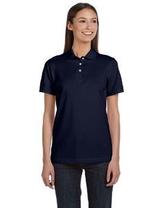 Navy Women's Ringspun Piqué Polo