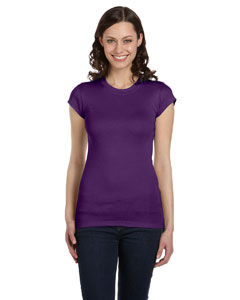 Team Purple Women's Sheer Mini Rib Short-Sleeve T-Shirt