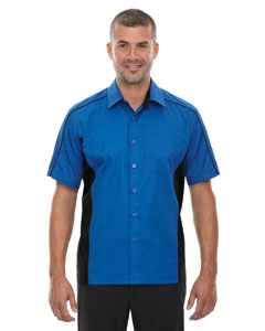 True Royal 438 Men's Fuse Colorblock Twill Shirt