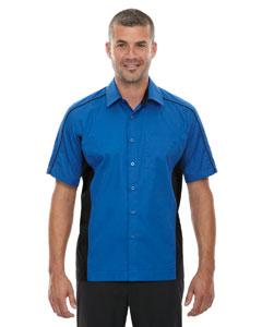 True Royal 438 Men's Tall Fuse Colorblock Twill Shirt