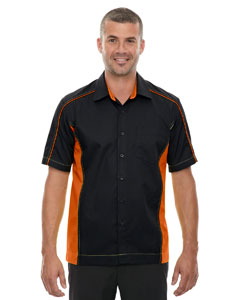 Black/ Ornge 468 Men's Tall Fuse Colorblock Twill Shirt