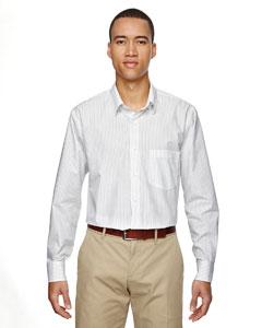 White 701 Men's Align Wrinkle-Resistant Cotton Blend Dobby Vertical Striped Shirt