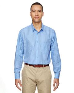 Light Blue 708 Men's Align Wrinkle-Resistant Cotton Blend Dobby Vertical Striped Shirt