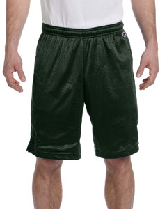 Athletic Dark Green 3.7 oz. Polyester Mesh Shorts