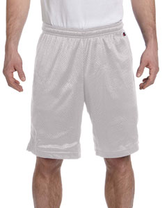 Athletic Gray 3.7 oz. Polyester Mesh Shorts