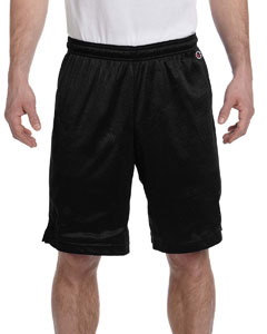 Black 3.7 oz. Polyester Mesh Shorts