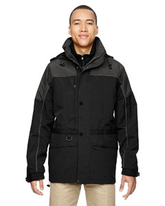 Black 703 Men's 3-in-1 Two-Tone Parka