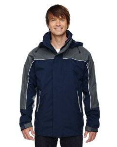 Midn Navy 711 Men's 3-in-1 Seam-Sealed Mid-Length Jacket with Piping