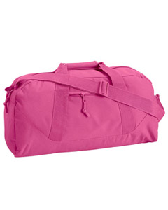 Hot Pink Game Day Large Square Duffel