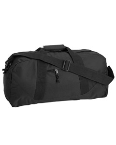 Black Game Day Large Square Duffel