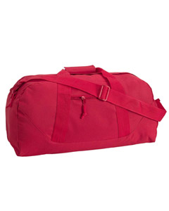 Red Game Day Large Square Duffel