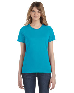 Caribbean Blue Women's Fashion Ringspun T-Shirt