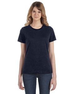Navy Women's Fashion Ringspun T-Shirt