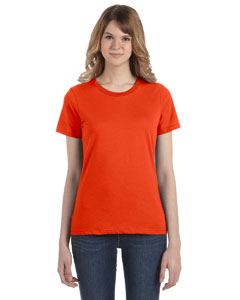 Orange Women's Fashion Ringspun T-Shirt