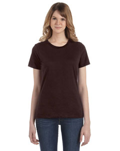 Chocolate Women's Fashion Ringspun T-Shirt