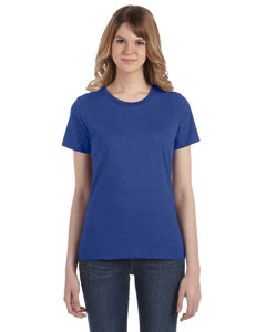 Heather Blue Women's Fashion Ringspun T-Shirt