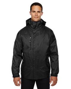 Black 703 Men's Performance 3-in-1 Seam-Sealed Hooded Jacket
