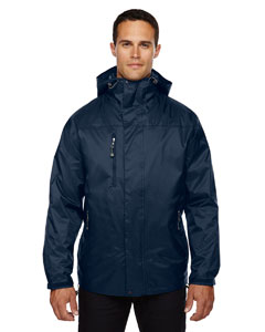 Midn Navy 711 Men's Performance 3-in-1 Seam-Sealed Hooded Jacket