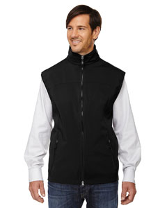 Black 703 Men's Three-Layer Light Bonded Performance Soft Shell Vest