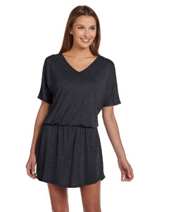 Dark Grey Heather Women's Flowy V-Neck Dress