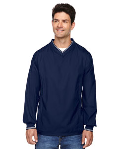 Classic Navy 849 Men's V-Neck Unlined Wind Shirt