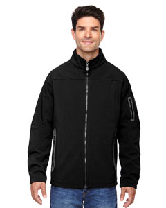 Black 703 Men's Three-Layer Fleece Bonded Soft Shell Technical Jacket