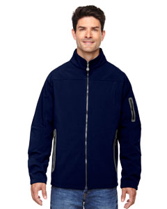 Classic Navy 849 Men's Three-Layer Fleece Bonded Soft Shell Technical Jacket