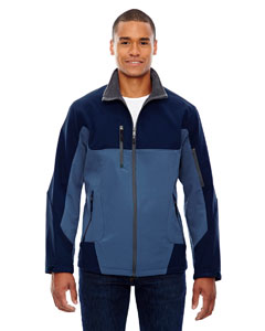 Blue Ridge 411 Men's Compass Colorblock Three-Layer Fleece Bonded Soft Shell Jacket