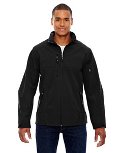 Black 703 Men's Compass Colorblock Three-Layer Fleece Bonded Soft Shell Jacket