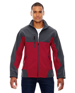 Molten Red 751 Men's Compass Colorblock Three-Layer Fleece Bonded Soft Shell Jacket