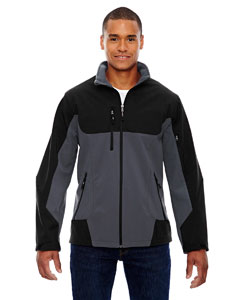 Fossil Grey 887 Men's Compass Colorblock Three-Layer Fleece Bonded Soft Shell Jacket