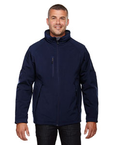 Classic Navy 849 Men's Glacier Insulated Three-Layer Fleece Bonded Soft Shell Jacket with Detachable Hood